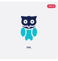Two color owl icon from education 2 concept vector