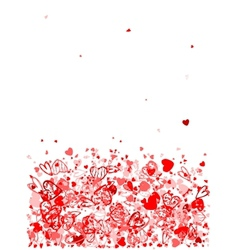 Valentine frame for your design vector image