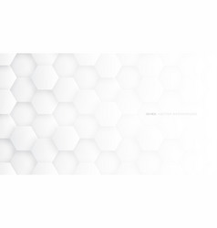 White 3d hexagon technology abstract background vector