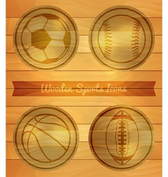 Wooden Sports Icons vector