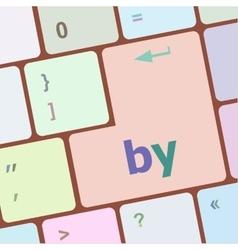 Word on computer keyboard key vector
