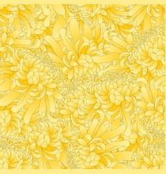 Yellow chrysanthemum flower seamless background vector