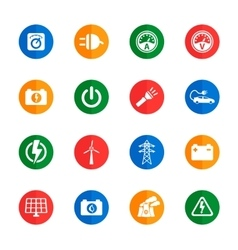 Electricity simply icons vector