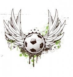football insignia vector image vector image