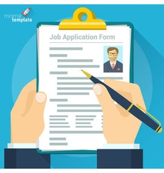 Job interview concept vector image