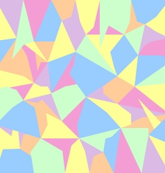 pastel spectrum abstract polygon background vector image vector image