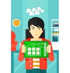 Smart home application vector image