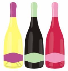 champagne bottles set vector image