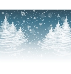 Christmas New Year The stylized image of spruce vector image vector image