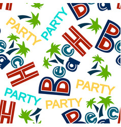 colored beach pattern pattern vector image