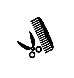 comb and scissors vector image