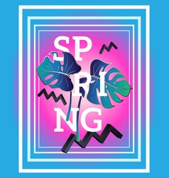 spring poster in the style of memphis vector image