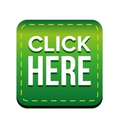 Click here button green vector