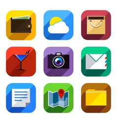 Flat App Icons Set 3 vector image