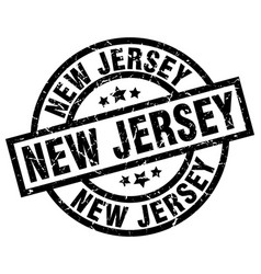 New jersey black round grunge stamp vector