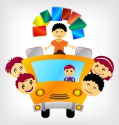 school bus vector image