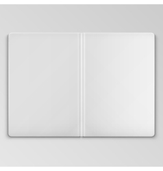White Open Book Cover Template vector image