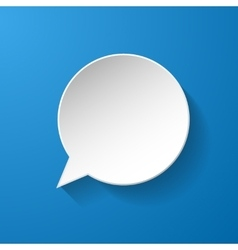 White paper speech bubble vector image vector image