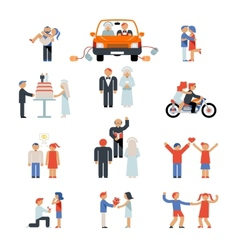 Assortment of Couple Icons vector image vector image