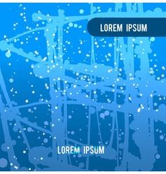 Blue backdrop splash paint texture vector image vector image