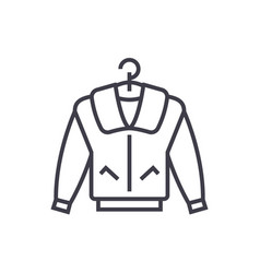 jacket line icon sign on vector image