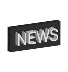 3D banner news vector