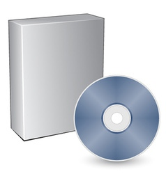 3d box with compact disc vector