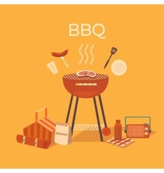 a barbecue outdoors vector image