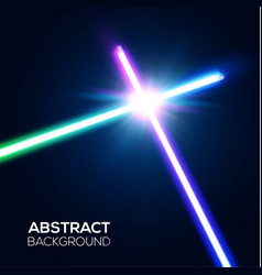 abstract background two crossed neon swords fight vector image