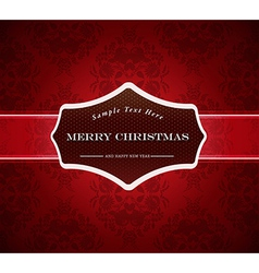 Abstract background with Merry Christmas sign vector