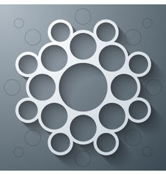 Abstract infographics symmetrical white circles vector