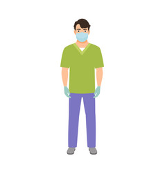 Anesthetist medical specialist vector