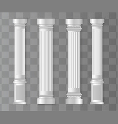 antique white columns vector image