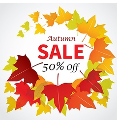 Autumn sale banner flat design for web and print vector