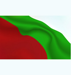 background republic of bulgaria flag in folds vector image