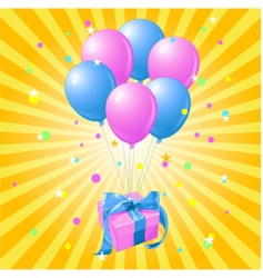 balloons gift vector image vector image