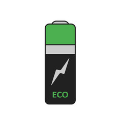 Battery graphic eco energy simple icon in flat vector