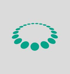 Beads icon vector