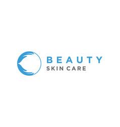 Beauty wellness logo design vector