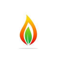 Bio gas leaf abstract logo vector