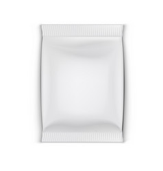 Blank foil doy pillow pack with shadow vector