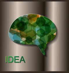 Bulb with bubble speech an idea concept for your vector