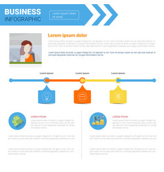 business infographics set copy space for vector image