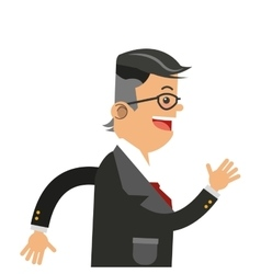 Businessman running icon vector