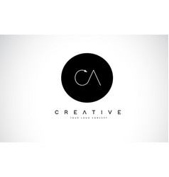 Ca c a logo design with black and white creative vector
