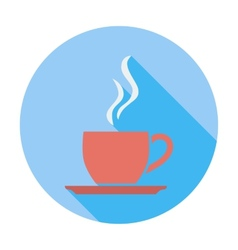 Cafe flat single icon vector image