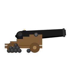 Cannon symbol flat icon vector