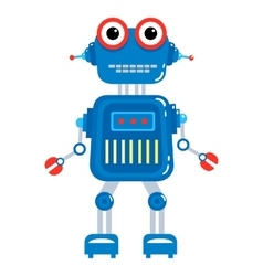 Cartoon cute robot vector