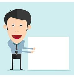 Cartoon holding blank board vector