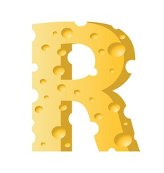 cheese letter R vector image